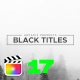 Black Titles
