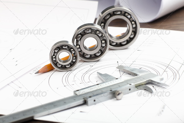 Tools and papers with sketches - Stock Photo - Images