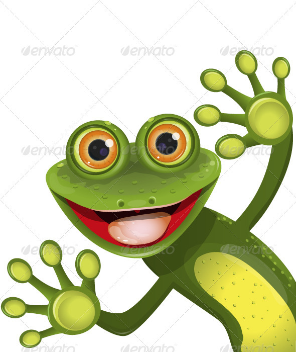 merry green frog - Animals Characters