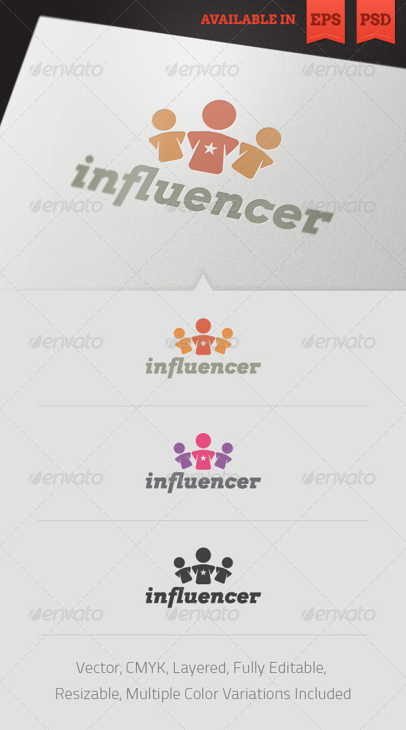 Social Influencer Logo Template V2 - Abstract Logo Templates