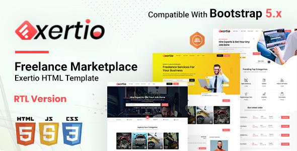 Extraordinary Exertio - Freelance Marketplace HTML Template