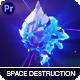 Space Metal Destruction Logo - VideoHive Item for Sale