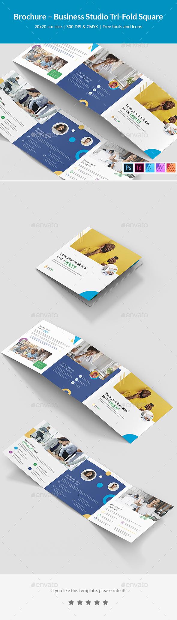 Brochure – Business Studio Tri-Fold Square