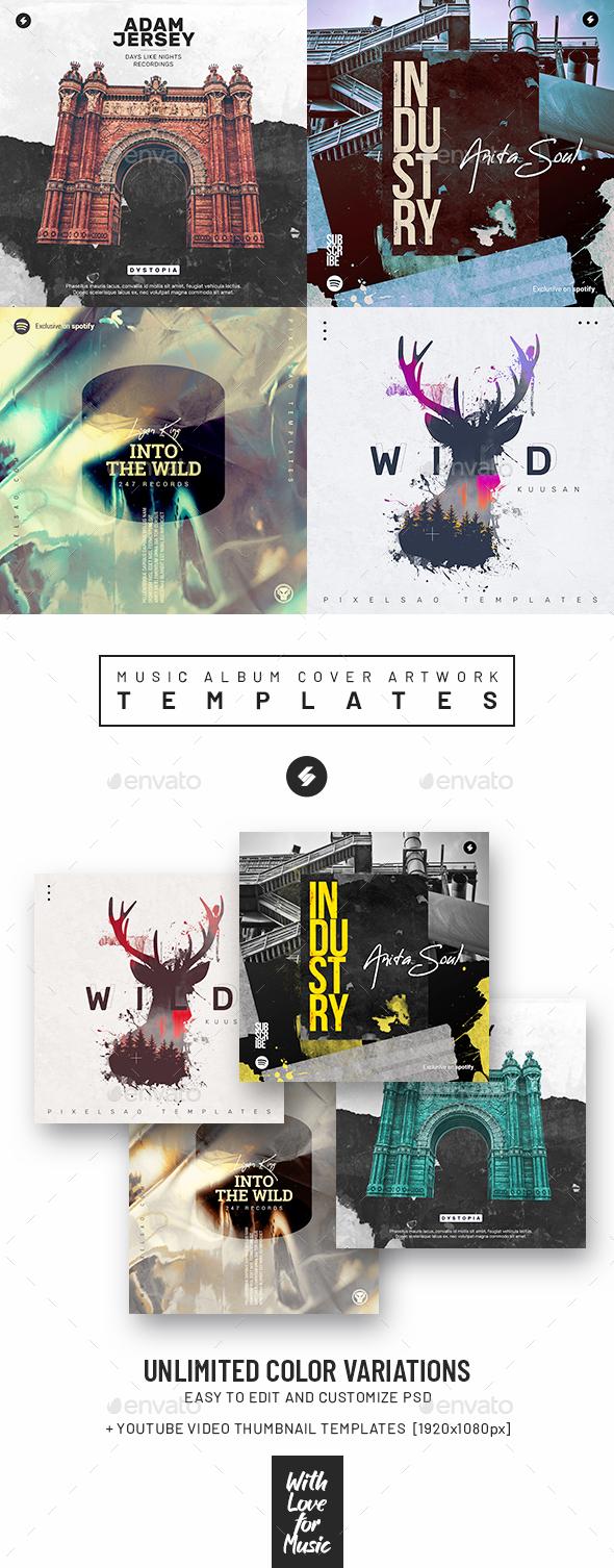 Music Album Cover Artwork Templates Bundle 69