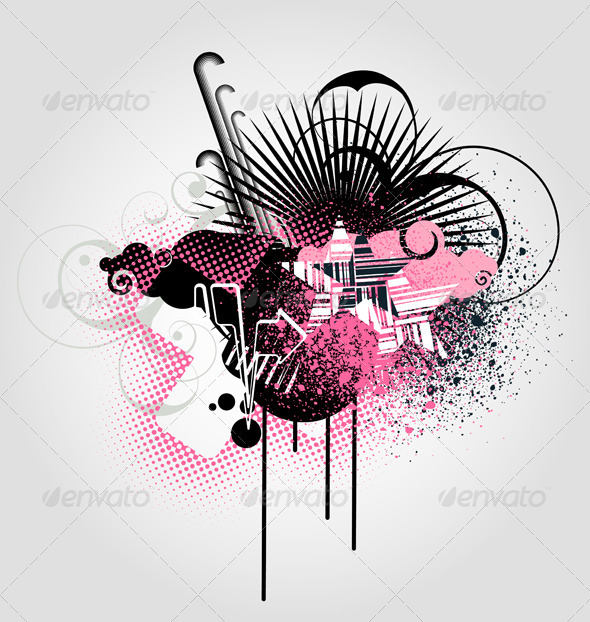 Abstract urban background - Backgrounds Decorative