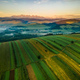 Aggriculture Field on Hill in Pieniny Park. Aerial Drone View - PhotoDune Item for Sale