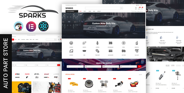 Spares – Auto Parts & Supermarket Prestashop Theme