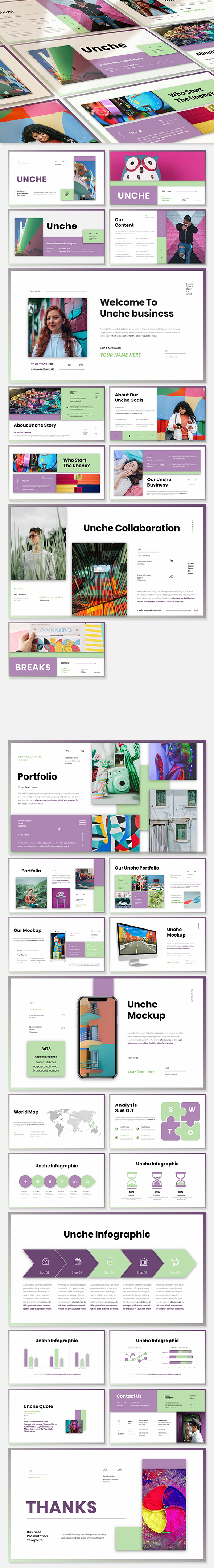 Unche - Business Presentation PowerPoint Template
