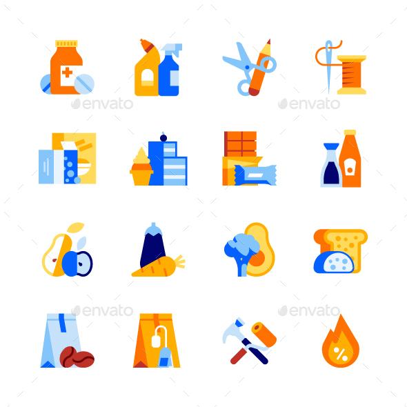 Shop Departments Icon Set 2