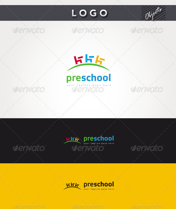 PreSchool Logo - Objects Logo Templates