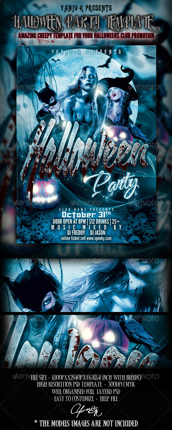 Halloween Party Flyer Template - Flyers Print Templates