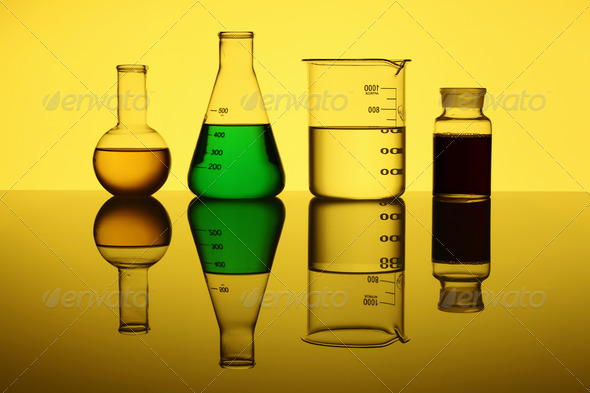 Glass chemistry tubes - Stock Photo - Images