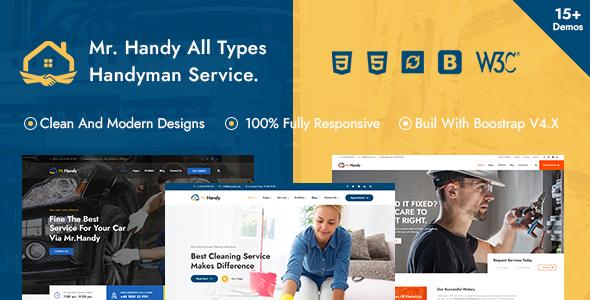 Extraordinary MrHandy – Handyman Multi-Services HTML Template