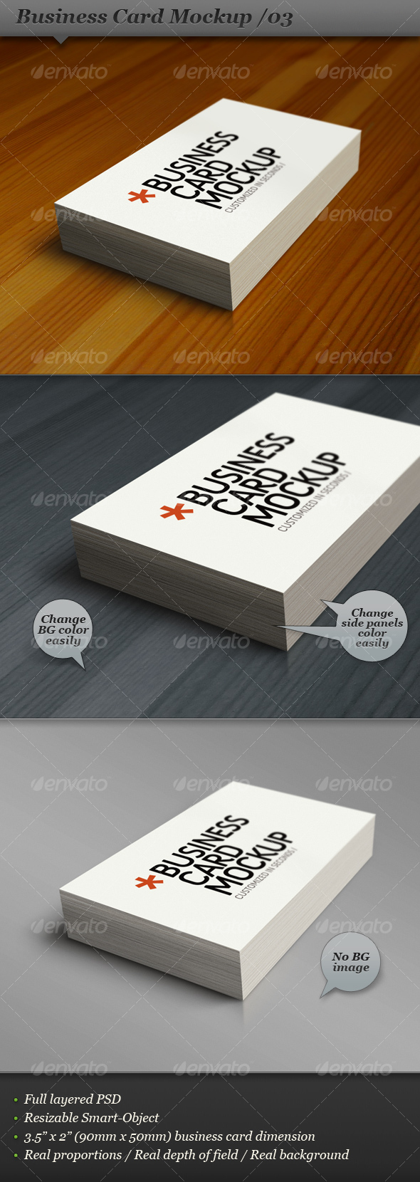 Business card mockup display - Smart template 03 - Business Cards Print