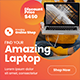 Laptop Product Web Banner Ad