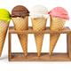 ice cream waffle cone on white background - PhotoDune Item for Sale