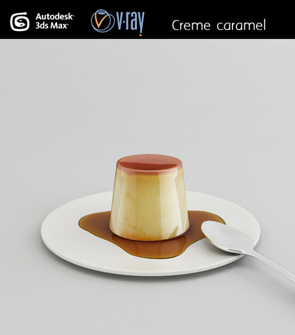 Creme caramel - 3DOcean Item for Sale