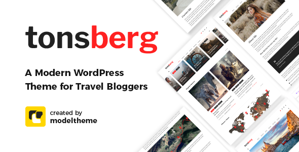 Special Tonsberg - A Modern WordPress Theme for Travel Bloggers
