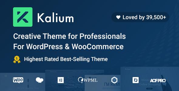 Marvelous Kalium - Creative Theme for Professionals