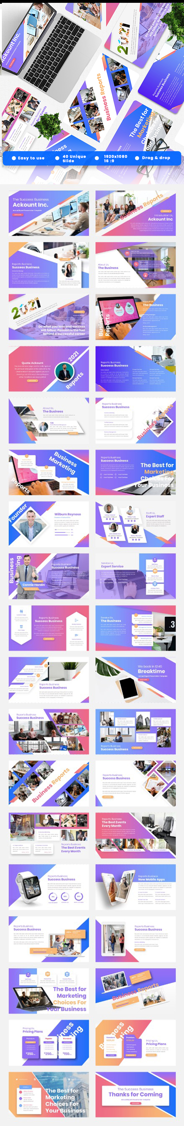 Ackount - Annual Report Powerpoint Template