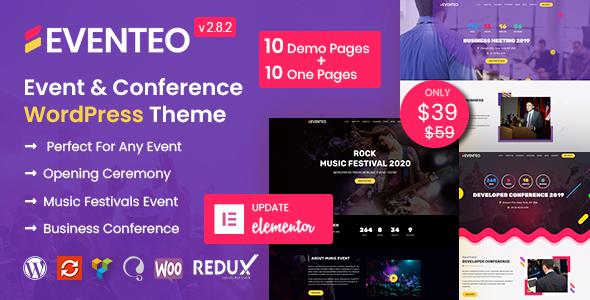 Eventeo - Event & Conference WordPress Theme