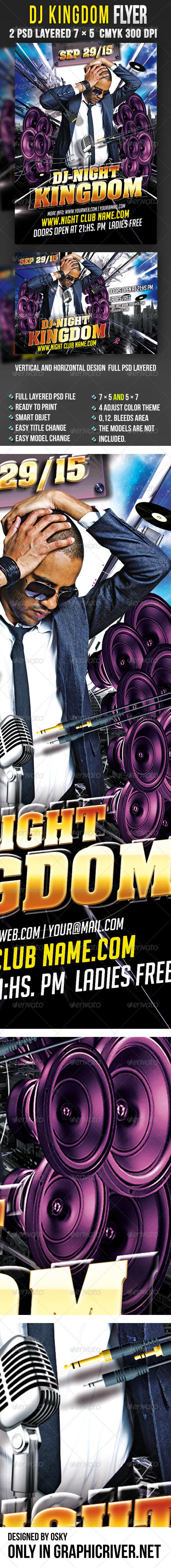 DJ Kingdom Flyer  - Clubs & Parties Events