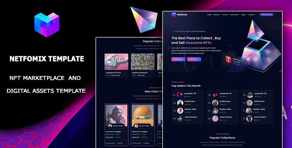 Netfomix - NFT Marketplace HTML Template