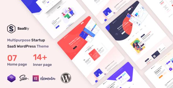SaaSly – Startup Landing WordPress Theme
