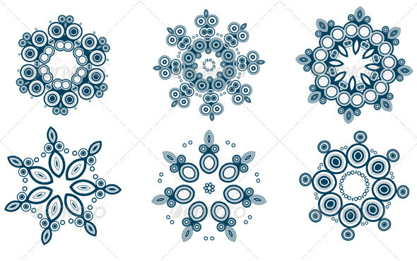 Snowflakes  set - Flourishes / Swirls Decorative