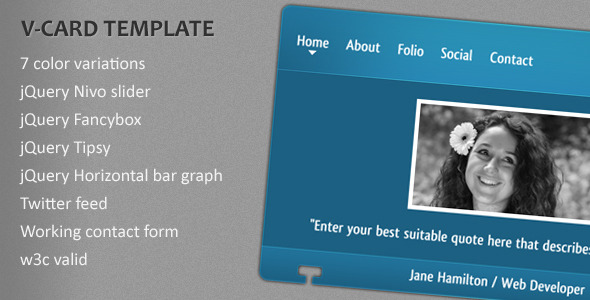 Free Download V-card Template Nulled Latest Version