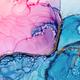 Alcohol ink fluid art background, blue and golden - PhotoDune Item for Sale