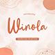 Winola – Handwritten Brush Font