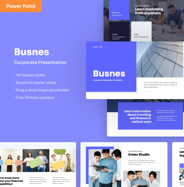 Busnes - Corporate PowerPoint Presentation