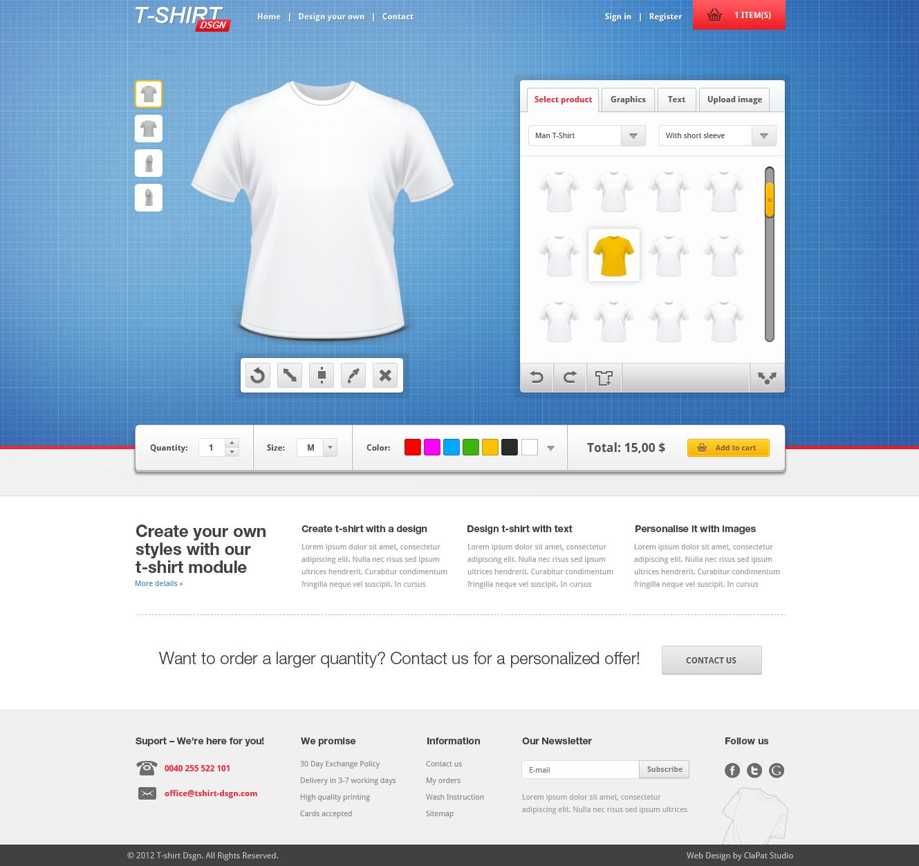 T Shirt Designer Creator By Clapat Themeforest