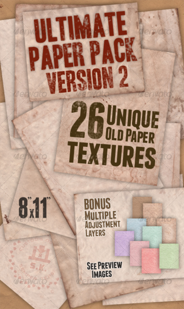 Ultimate Paper Pack: Version II - Paper Textures