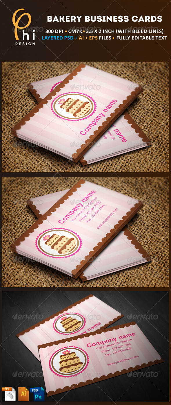 Bakery Business cards - Industry Specific Business Cards
