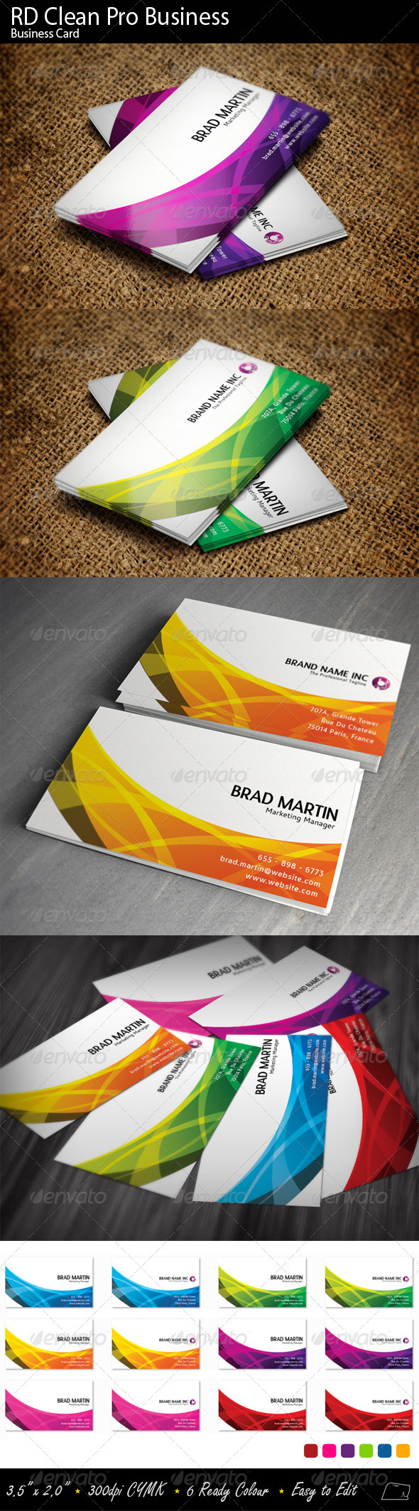 RD Clean Pro Business - Corporate Business Cards