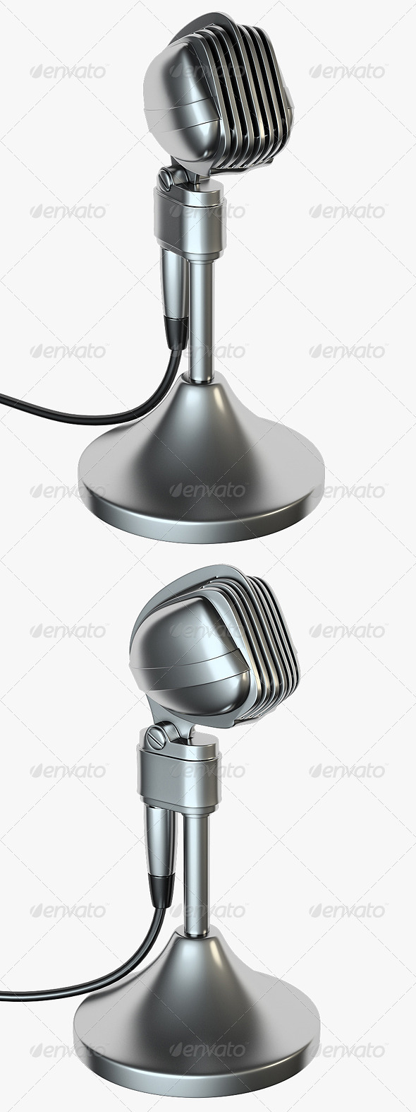 2 Microphone Renders - Objects 3D Renders