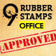 9 Rubber Stamps Office ed. - GraphicRiver Item for Sale