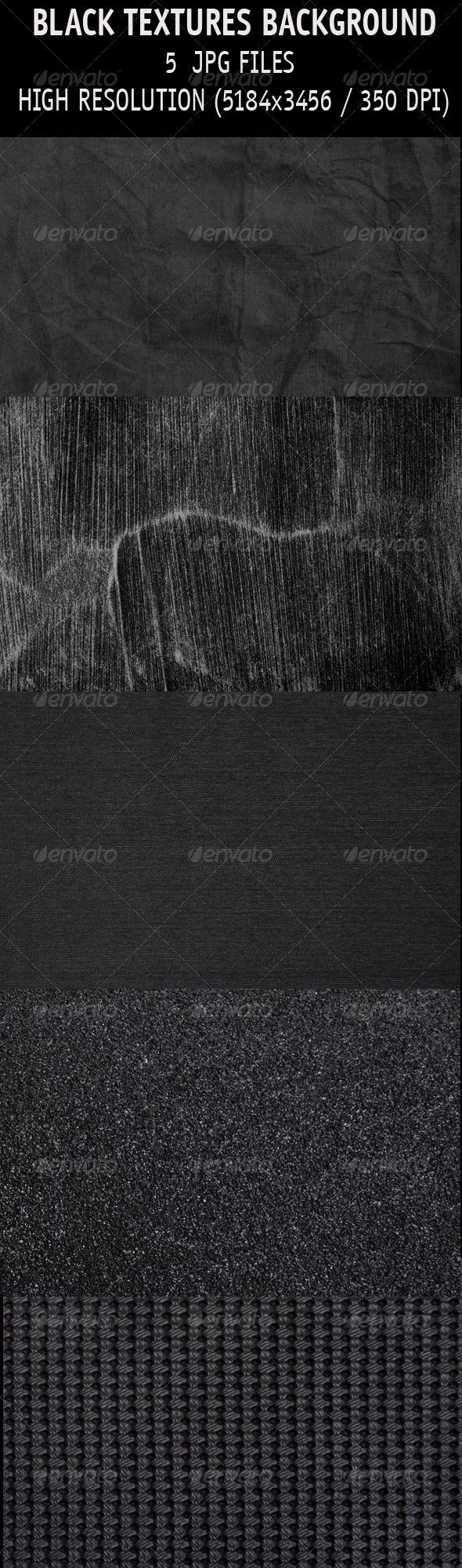 Black textures background - Industrial / Grunge Textures