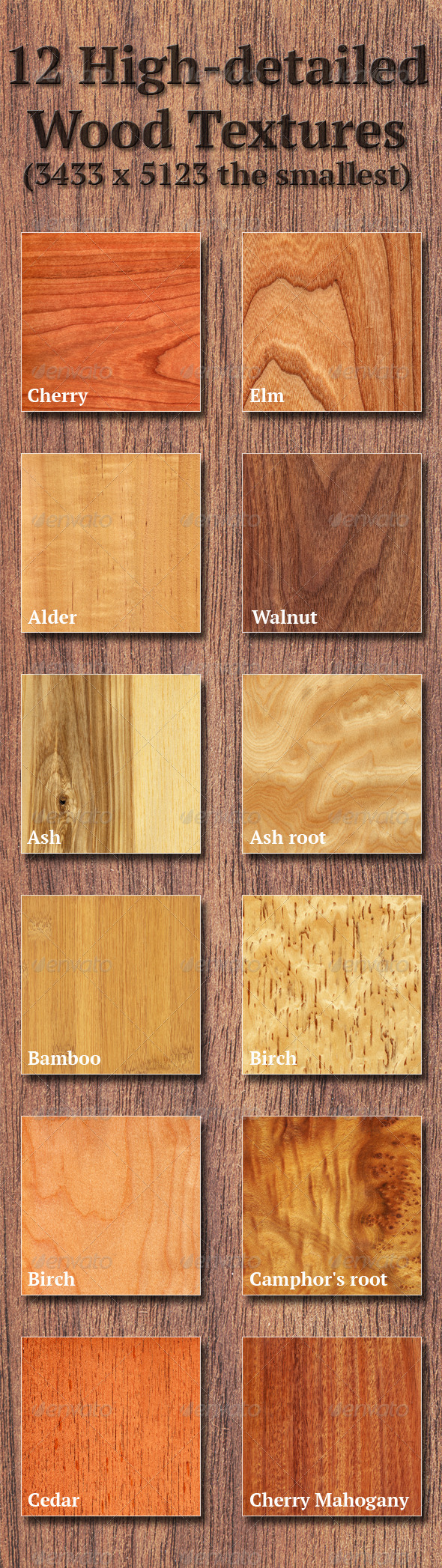 High-Detailed Wood Textures Set 1 - Wood Textures