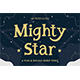 Mighty Star – a Fun and Rough Serif Font
