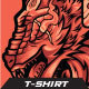 Beast Werewolf T-shirt Design Illustration