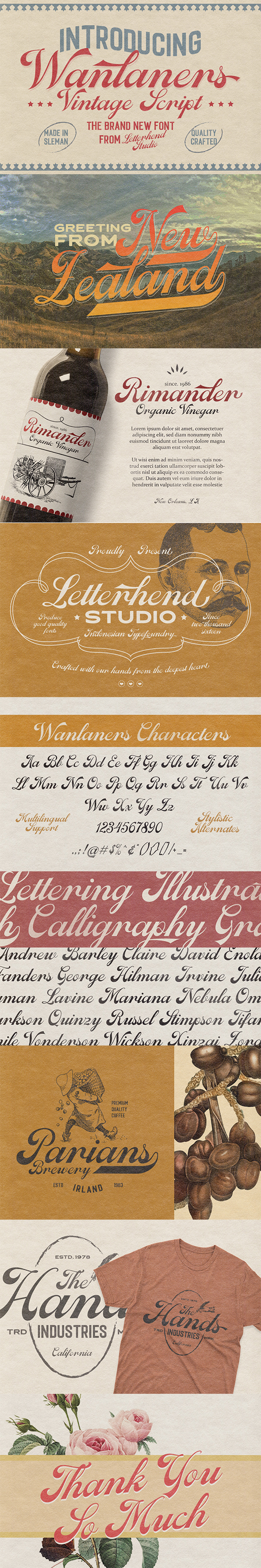 Wanlaners - Vintage Script