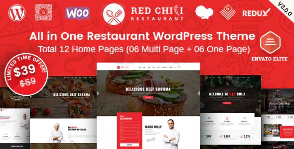 Beautiful RedChili - Restaurant WordPress Theme
