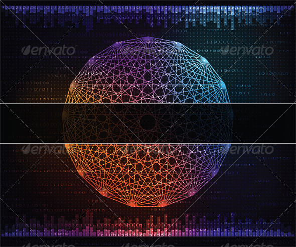 Modern technology theme background - Backgrounds Decorative