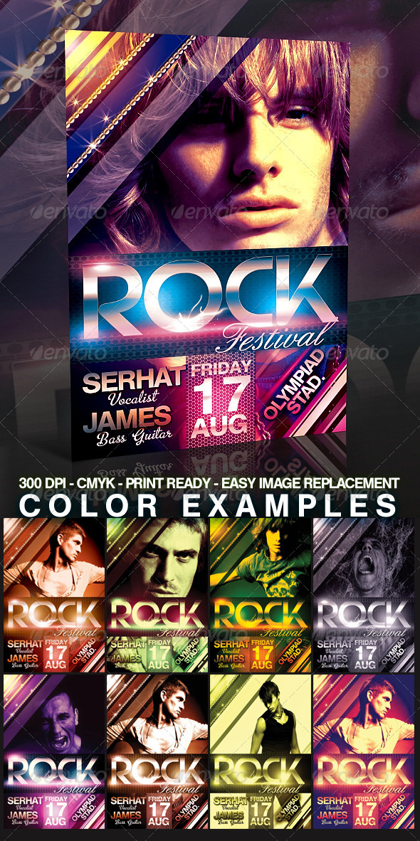 Rock Flyer Template - Clubs & Parties Events