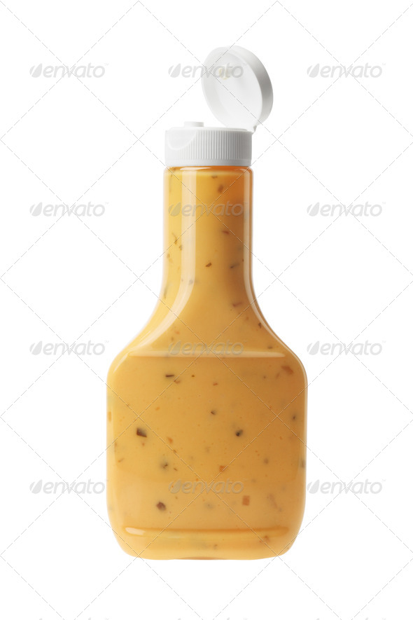 Bottle of Thousand Island Salad Dressing - Stock Photo - Images