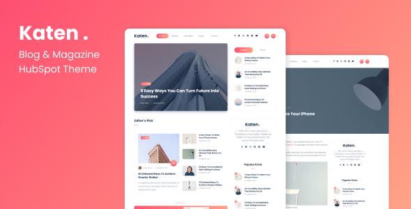 Katen - Blog & Magazine HubSpot Theme