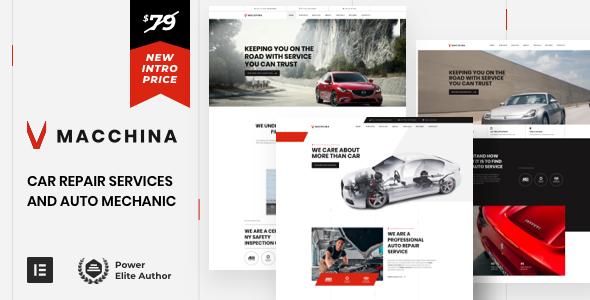 Download Macchina – Auto Repair Car Mechanic WordPress Free Nulled